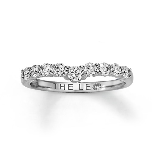 LEO ENHANCER RING  1/2 CT TW ROUND-CUT  14K WHITE GOLD