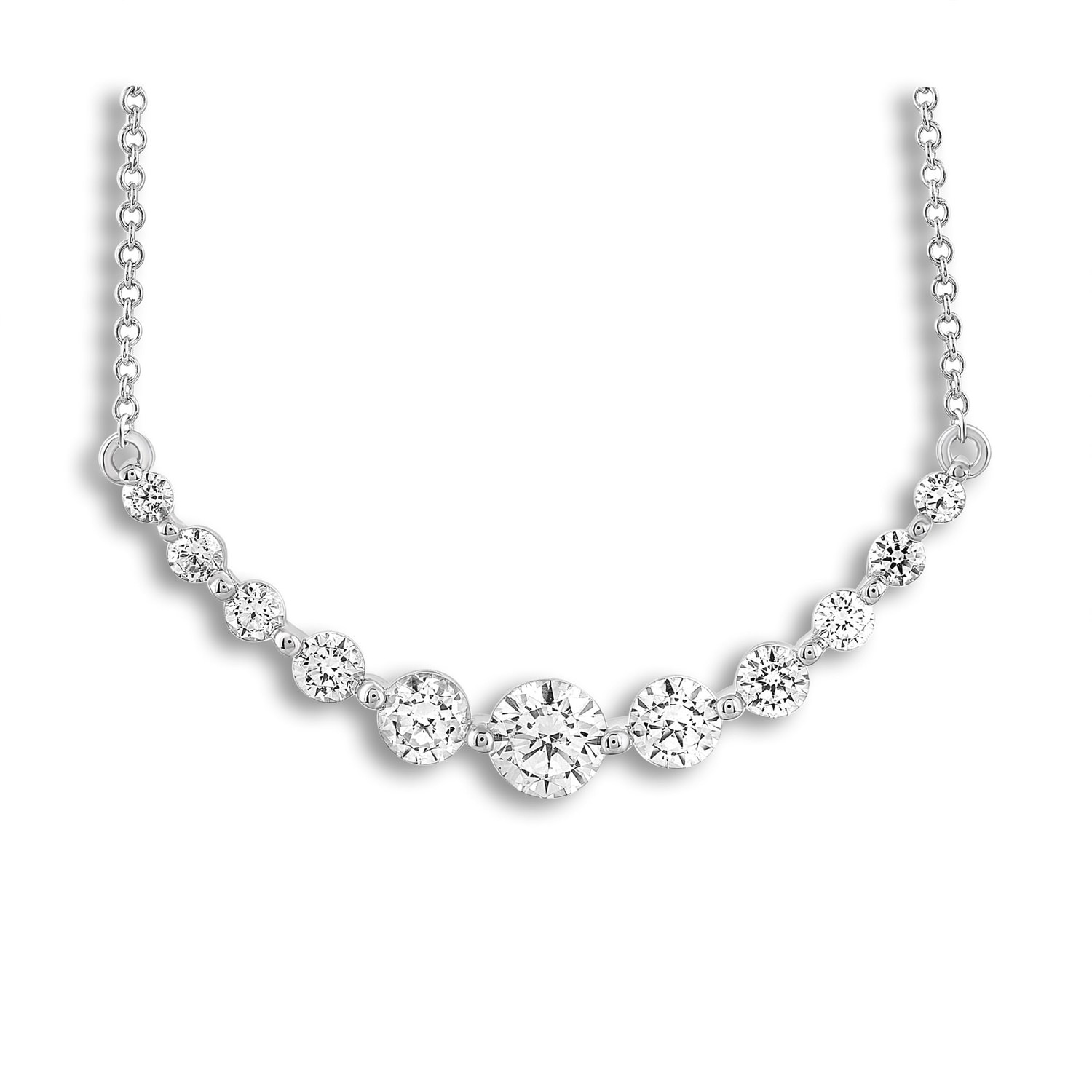 Leo Diamond Necklace 1 ct tw Diamonds 14K White Gold