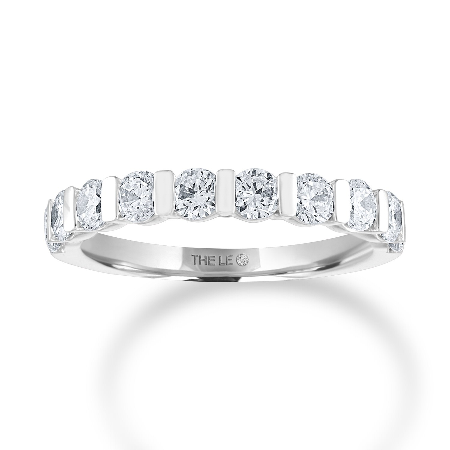Leo Diamond Anniversary Band 1-1/5 ct tw 14K White Gold