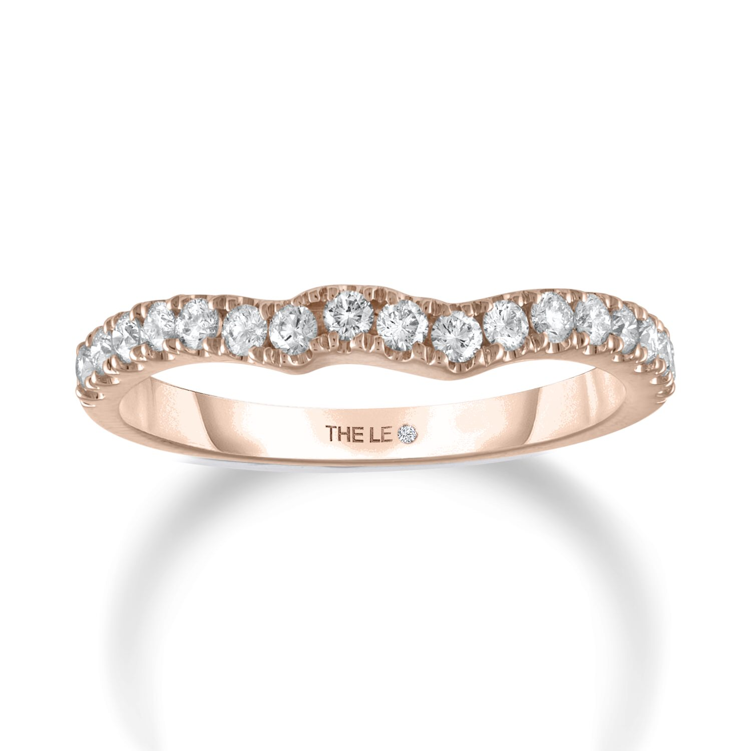 Leo Diamond Wedding Band 3/8 ct tw Diamonds 14K Rose Gold